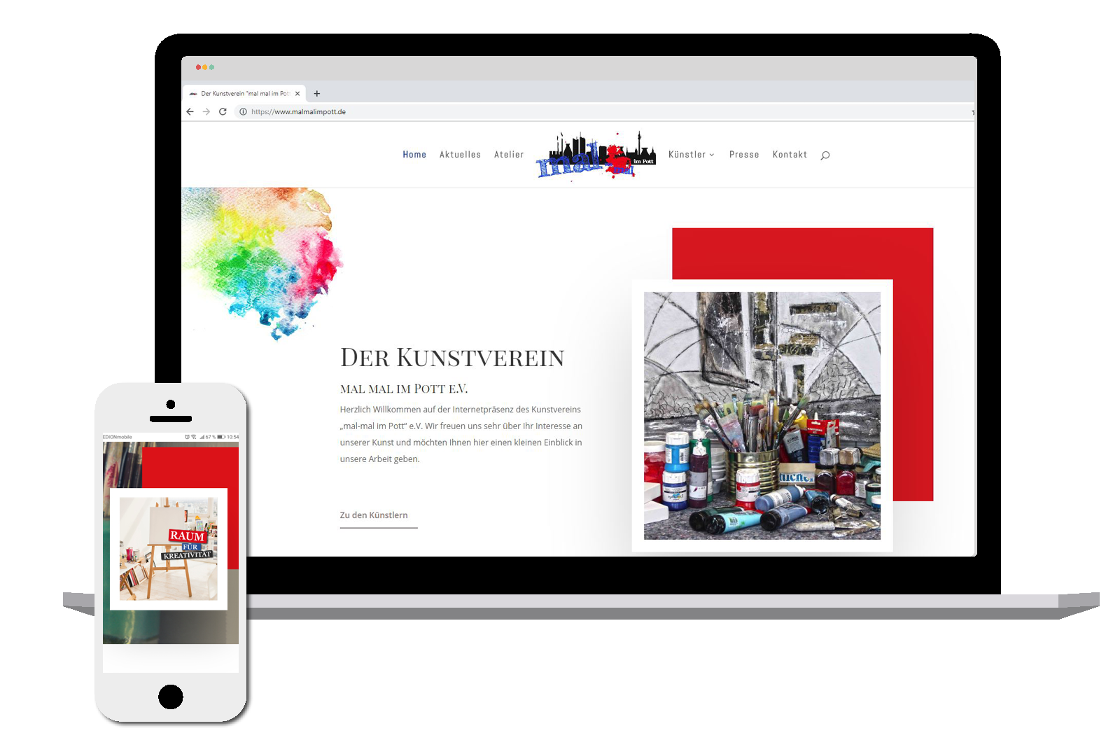 Website Kunstverein