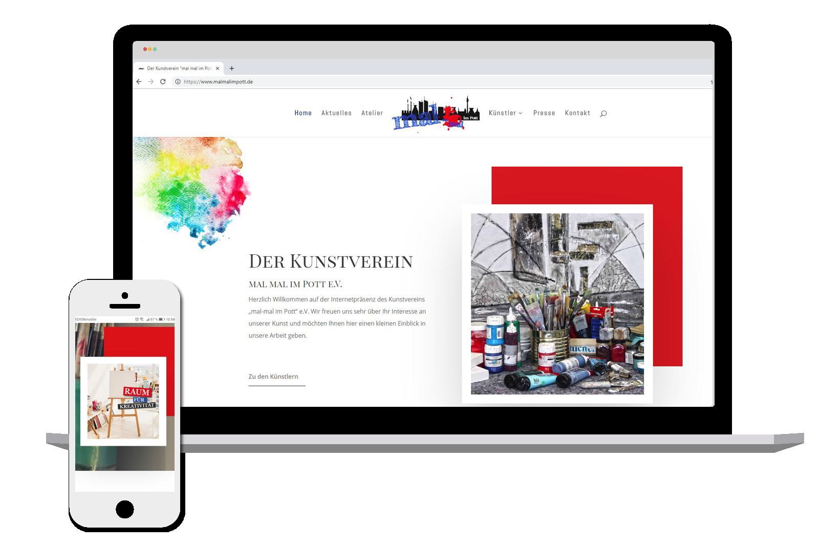 Website Kunstverein